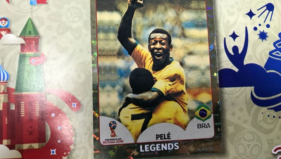 figurinha Pelé álbum da copa 2018